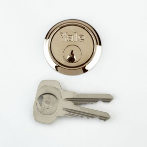 Yale P1109 Brass Replacement Rim Cylinder & 4 Keys