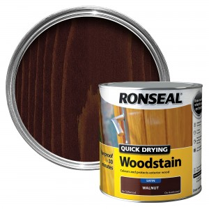 Ronseal Quick Drying Wood Stain 750ml Walnut Satin