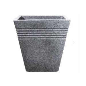 Square Piazza Pot Grey 34cm
