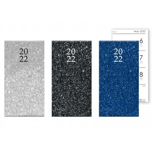 A6 Slim Glitter Diary Week to View 2022