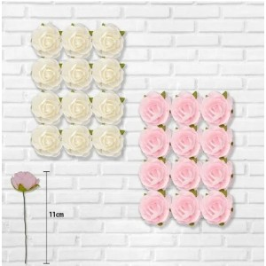 Paper Craft Roses Assorted Colours (12 Pack)