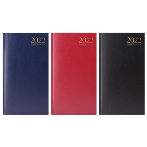 A6 Slim Diary Week to View 2022