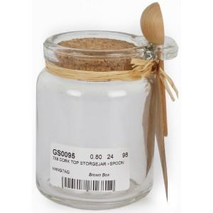 Glass Storage Jar with Spoon