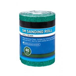 BlueSpot 5m 115mm Sanding Roll 40 Grit