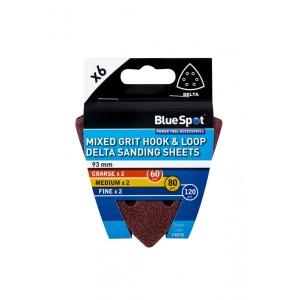 Mixed Grit Hook & Loop Delta Sanding Sheets 93mm