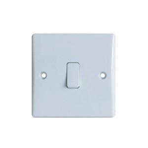 Dencon 1 Gang 2W 10A Slimline Switch (3402NB)