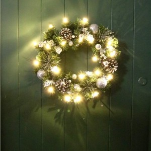 Christmas LED Bauble Berry Wreath 40cm Assorted