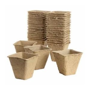 Plantpak Peat Free Fibre Pots Square 6cm (20 Pack)