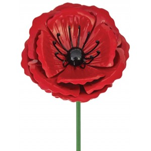 Metal Poppy Stake - Small