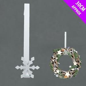 Christmas Metal Wreath Hanger White
