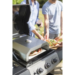 "La Hacienda BBQ Firebox 12"" Pizza Oven in Stainless Steel"