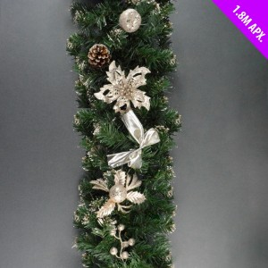 Christmas Garland 1.8m Champagne