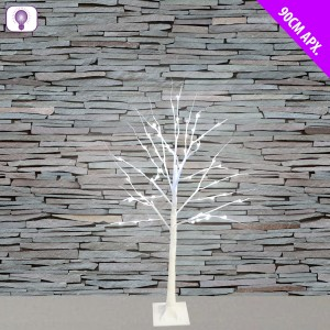 Christmas LED Birch Tree 1.5m White