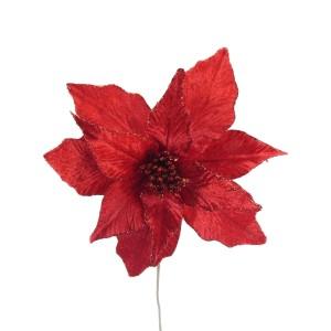 Christmas Luxury Poinsettia 30cm Red