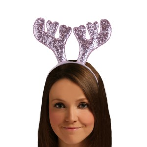 Christmas Pink Glitter Antlers