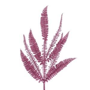 Christmas Glitter Fern Branch 70cm Blush/Velvet Pink