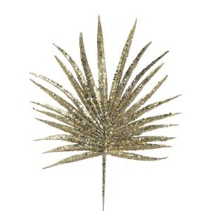 Christmas Glitter Palm 29cm Gold