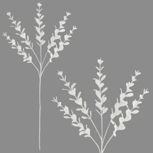 Christmas Glitter Eucalyptus Spray 75cm White