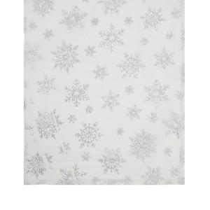 1.5m silver snowflake runner