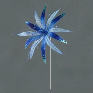 Christmas Super Flower Navy Blue