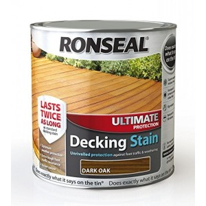 Ronseal Ultimate Protection Decking Stain 2L ( +25% Extra) Dark Oak