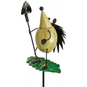 Hedgehog With Spade Garden Stake