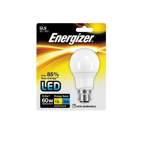 Energizer 9.2W BC Warm White LED GLS Bulb