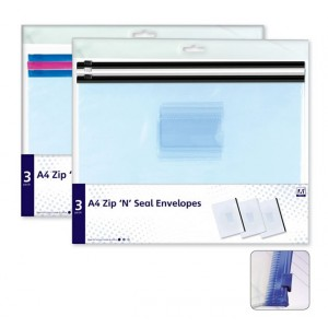 Anker A4 Zip 'N' Seal Envelopes (3 Pack)