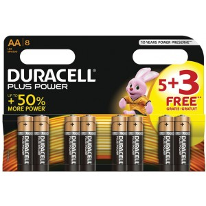 Duracell Plus Power AA Batteries (8 Pack)
