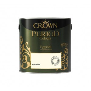Crown Period Colours Eggshell Paint 2.5L Aged White
