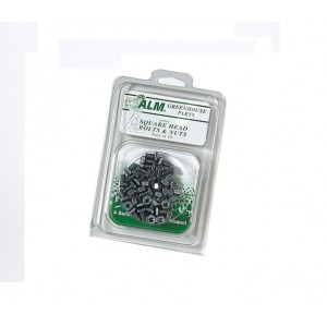 ALM Greenhouse Square Head Bolts & Nuts (20 Pack)