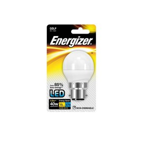 Energizer 5.9W BC Warm White LED Golf Ball Bulb