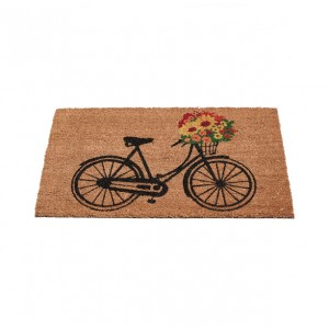 Gardman Floral Bicycle Coir Mat