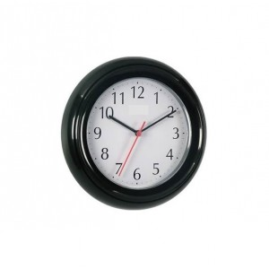 Acctim Bentima Plastic Round Wall Clock Black
