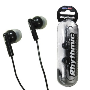 Ultra Max Rhythmic Earphones Black Rock