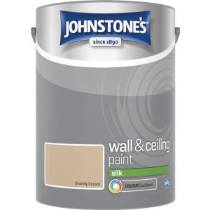 Johnstones Vinyl Emulsion Paint 5L Brandy Cream Silk
