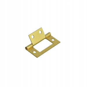 Securit S4409 Brass Plated Flush Hinges 50mm (Pair)