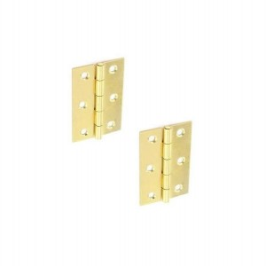 Securit S4306 Brass Plated Steel Butt Hinges 100mm (Pair)