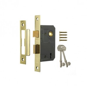 Era 3 Lever Brass Effect Mortice Sashlock 63mm