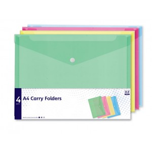 Anker A4 Carry Folders (4 Pack) Assorted
