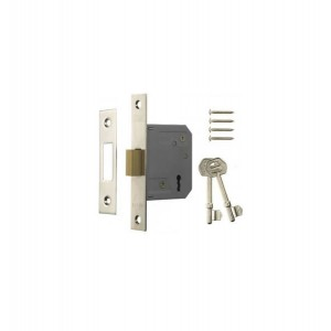 Era 3 Lever Chrome Mortice Deadlock 63mm