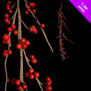 Wired Berry Garland 1.5m Classic Red