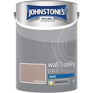 Johnstones Vinyl Emulsion Paint 5L Coffee Cream Matt