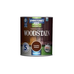 Johnstones Indoor & Outdoor Wood Stain 750ml Country Walnut