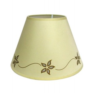 "Star Flower Lampshade 10"" Cream"