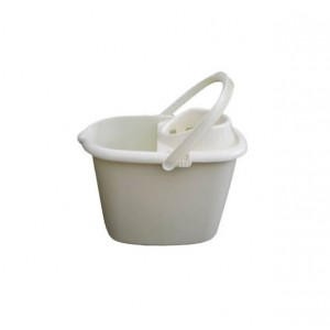 Plastic Mop Bucket 14L Cream