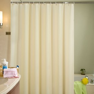 Blue Canyon Plain Peva Shower Curtain Cream