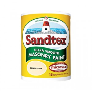 Sandtex Smooth Masonry Paint 5L Cornish Cream Matt