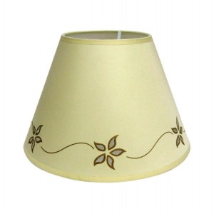"Star Flower Lampshade 12"" Cream"