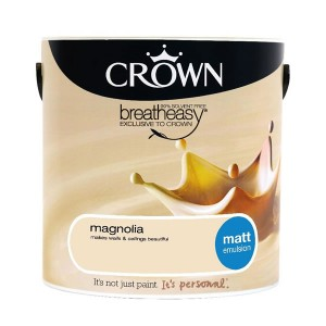 Crown Breathe Easy Emulsion Paint 2.5L Magnolia (Matt)